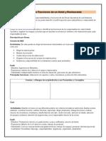 Manual de Funciones de Un Hotel y Restaurante