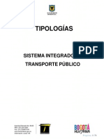 Tipologias de Buses Manual de Operaciones de Transmilenio s.A