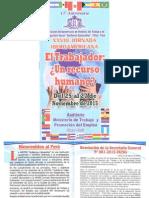 """XXVIII Jornada Iberoamericana """"El trabajador"""