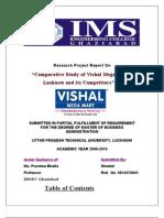 Vishal Megamart and Its Competitors
