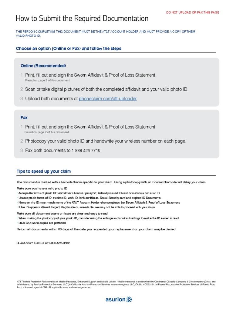 att affidavit ATT_en-US | Identity Document | Fraud