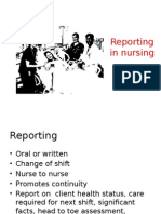 Reporting Nursing