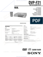 Sony DVP-F21 Service Manaul