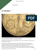 El Astrolabio _ Cosmos y Matemáticas