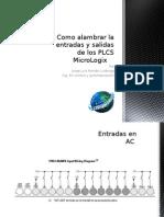 Alambrado de Las Entradas y Salidas de los PLCs Micrologix Allen Bradley