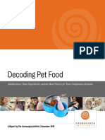 Decoding Pet Food Full Report