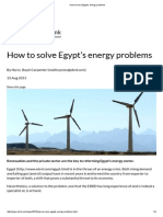 How to Solve Egypt's Energy Problems