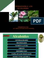 INTRODUCCION A LOS ALCALOIDES