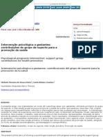 Psicologia_ Ciência e Profissão - Intervenção Psicológica a Gestantes_ Contribuições Do Grupo de Suporte Para a Promoção Da Saúde
