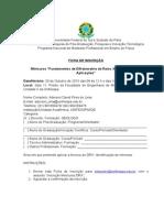 Ficha de Inscrição - Minicurso DRX