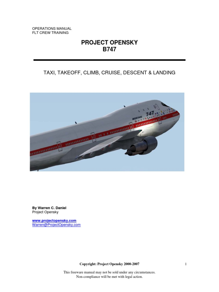 Boeing 747 Operations Manual | Flight Control Surfaces | Flap (Aeronautics)