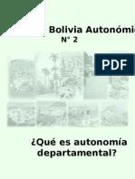 Autonomia Departamental Bolivia