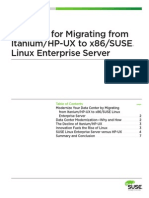 Case for Migrating Itaniumhpux to x86sles