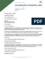 Codigo Organico Monetario y Financiero, Libro i