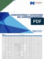 Convicatorias y Licitaciones del Gobierno Octubre 2015