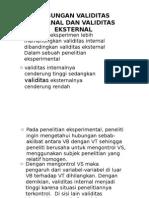 Hubungan Validitas Internal Dan Validitas Eksternal (Psi Eksperimen)