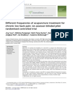 Different Frequencies of Acupuncture Treatment for Chronic Low Back Pain [PRINT]