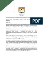 13-11-15 Autoriza Cabildo de Hermosillo Reestructuración de Adeudos Heredados