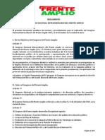 Reglamento Congreso Nacional Extraordinario FA