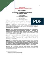 Ley Organica Admon Publica Sinaloa