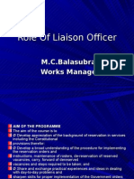 Role of Liaison Officer