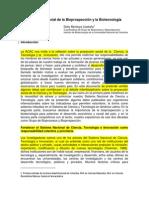 Proyección Social de La Bioprospección y La Biotecnología