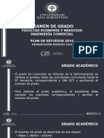 Presentación Examen de Grado Malla 2010 Período 2015
