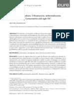 (Almandoz) Despegues Sin Madurez. Urbanización, Industrialización y Desarrollo en La Latinoamérica Del Siglo XX
