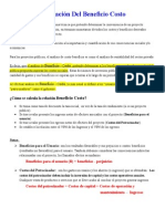 5 Beneficio Costo Especifico 2015 Mod