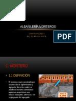 Albañilería Morteros y Refuerzos