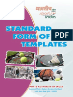 Standard Forms of Templets
