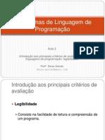 Aula 2 - Paradigmas de Linguagem de Programação -Alunos