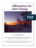 Using Affirmations for Positive Change