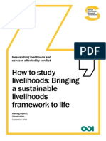 How to study livelihoods