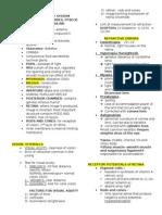 Notes on Sensory System