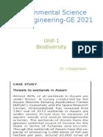 Chapter I Biodiversity