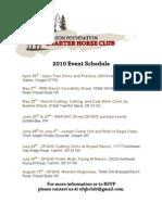 OFQHC2010 Event Schedule
