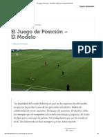 El Juego de Posición – El Modelo _ Entrenar El Juego de Posición