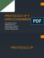 Protocolo IP y Direccionamiento