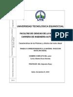 Informe de Inyeccion(Carlos Erazo 6to B)