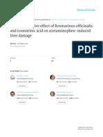 Hepatoprotective Effect of Rosmarinus Officinalis and Rosmarinic Acid on Acetaminophen-Induced Liver Damage