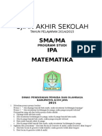 Soal UAS Matematika SMA-MA 2014-2015_IPA(Print)