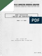 Deep Excavation - Design and Construction - ACES Course Notes