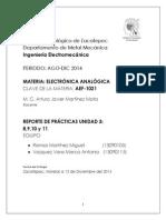 PRACTICA CIRCUITO OPERADOR,OPERACIONES BASICAS,CONTROL DE TEMPERATURA ANALOGICO,FOTOCELDA