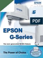 EPSON G-Series Scara Robots Catalogo