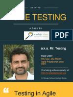 Agile Testing by Majd-Uddin