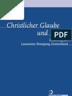 Christlicher Glaube Und Islam Von Der Lausanner Bewegung