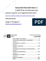Manual Gratis Chevrolet Aveo
