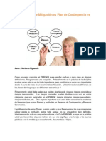 Riesgos Plan Mitigacion vs Plan Contingencia vs Fallback Plan