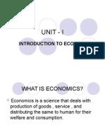 UNIT - I Engineering Economics